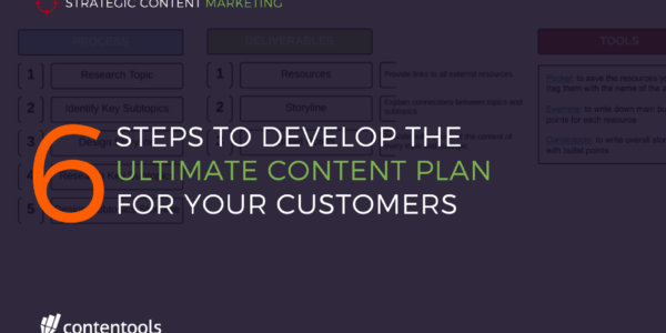 6 Steps To Develop The Ultimate Content Plan For Your Customers